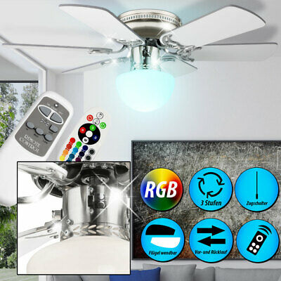 Ventilateur de plafond MDF lumière luminaire verre éclairage salle de séjour Globo 0307W