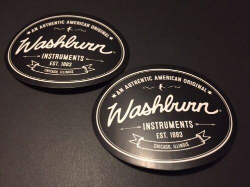 WASHBURN INSTURMENTS BLACK AND WHITE STICKER 3X2 2PCS