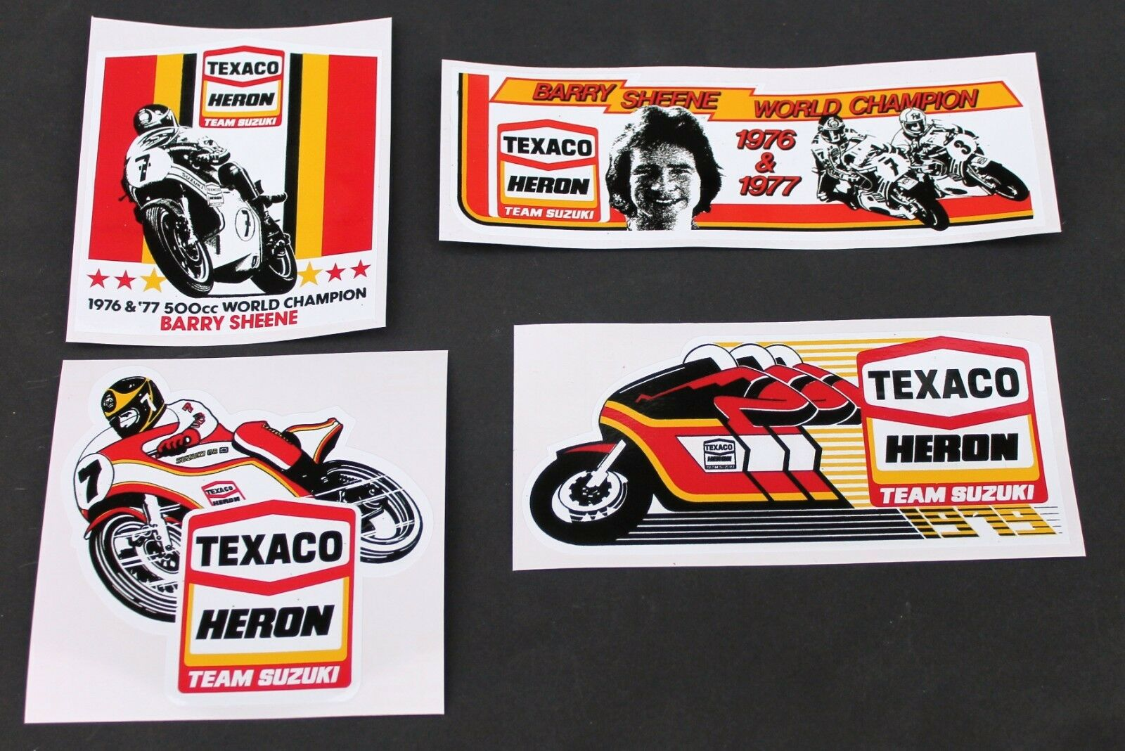 BARRY SHEENE DUCK Classic Retro Car Motorcycle Decals Stickers