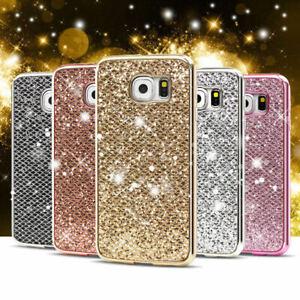 Bling-TPU-Coque-Placage-Bumper-Cadre-Ultra-Mince-Cas-Pour-Samsung-J6-2018-S6-S7