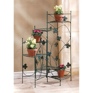 Image Is Loading Metal Ivy SPIRAL STAIRCASE 6 Shelf Flower Pot