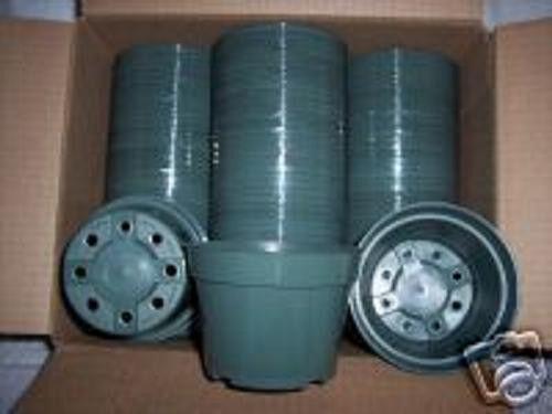 "4/"" Azalea green plastic pot @@ greenhouse nursery planter outdoor  250 pots  lot"