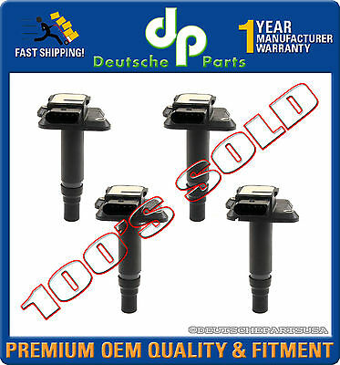 For Audi A4 TT Volkswagen Beetle Jetta Set Of 4 Ignition Coils OES 06B905115E