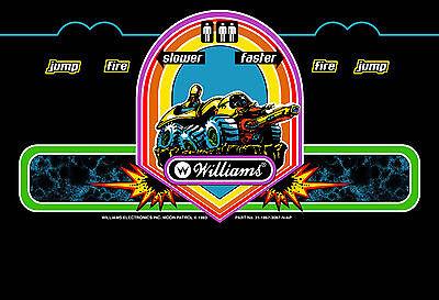 WILLIAMS MOON PATROL arcade marquee