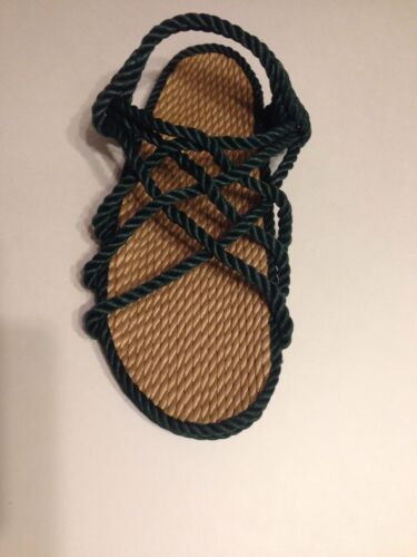 Womens Size 7 Rope Sandals Forest Green Narrow