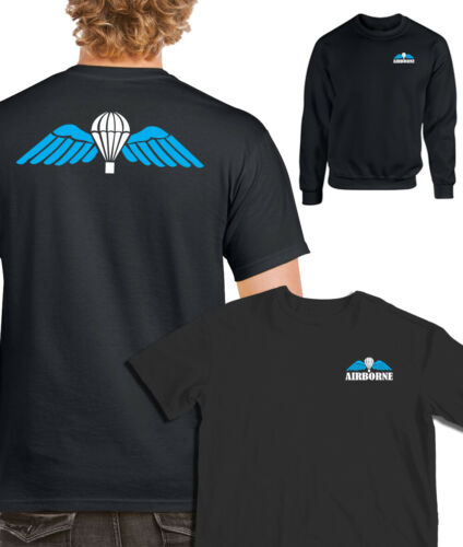 ALL ARMS AIRBORNE WINGS PARACHUTE T-SHIRT Sweatshirts para maroon 16 brigade tee