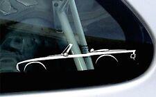 2x car silhouette stickers - for Triumph TR6 classic vintage car