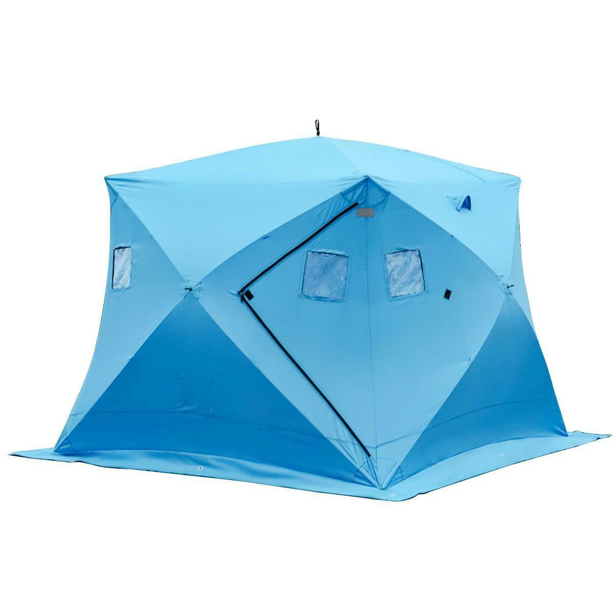 Nuevo Durable Impermeable 4 personas Refugio de hielo pesca Cochepa con bolsa de almacenamiento de información
