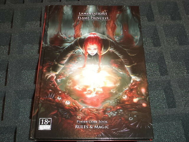 Lamentations of the Flame Princess  Player Core Book  Rules & Magic RPG BNew