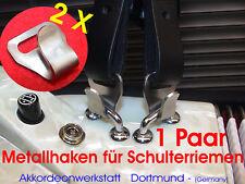 2 x Metall- Haken für Akkordeon- Riemen,Gurte, 2 metal hook for accordion Straps