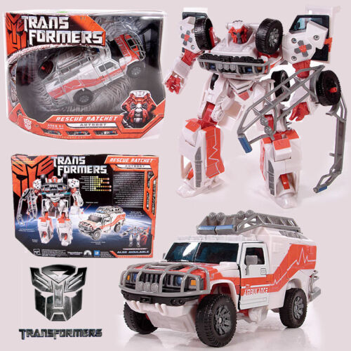 HASBRO 2007 TRANSFORMERS RESCUE RATCHET VOYAGER CLASS AUTOBOT ACTION FIGURES TOY