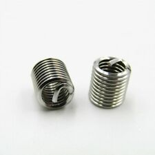 50pcset 304 Stainless M6x10 15d Insert Length Helicoil Wire Thread Insert