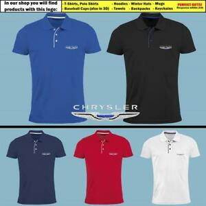 Chrysler-Polo-T-Shirt-EMBROIDERED-Auto-Car-Logo-Slim-Fit-Tee-Gift-Mens-Clothing