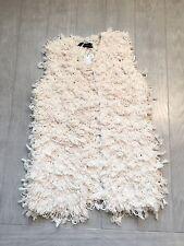 ZARA Women's Fancy Waistcoat(Ecru. Size:US M/EUR M)
