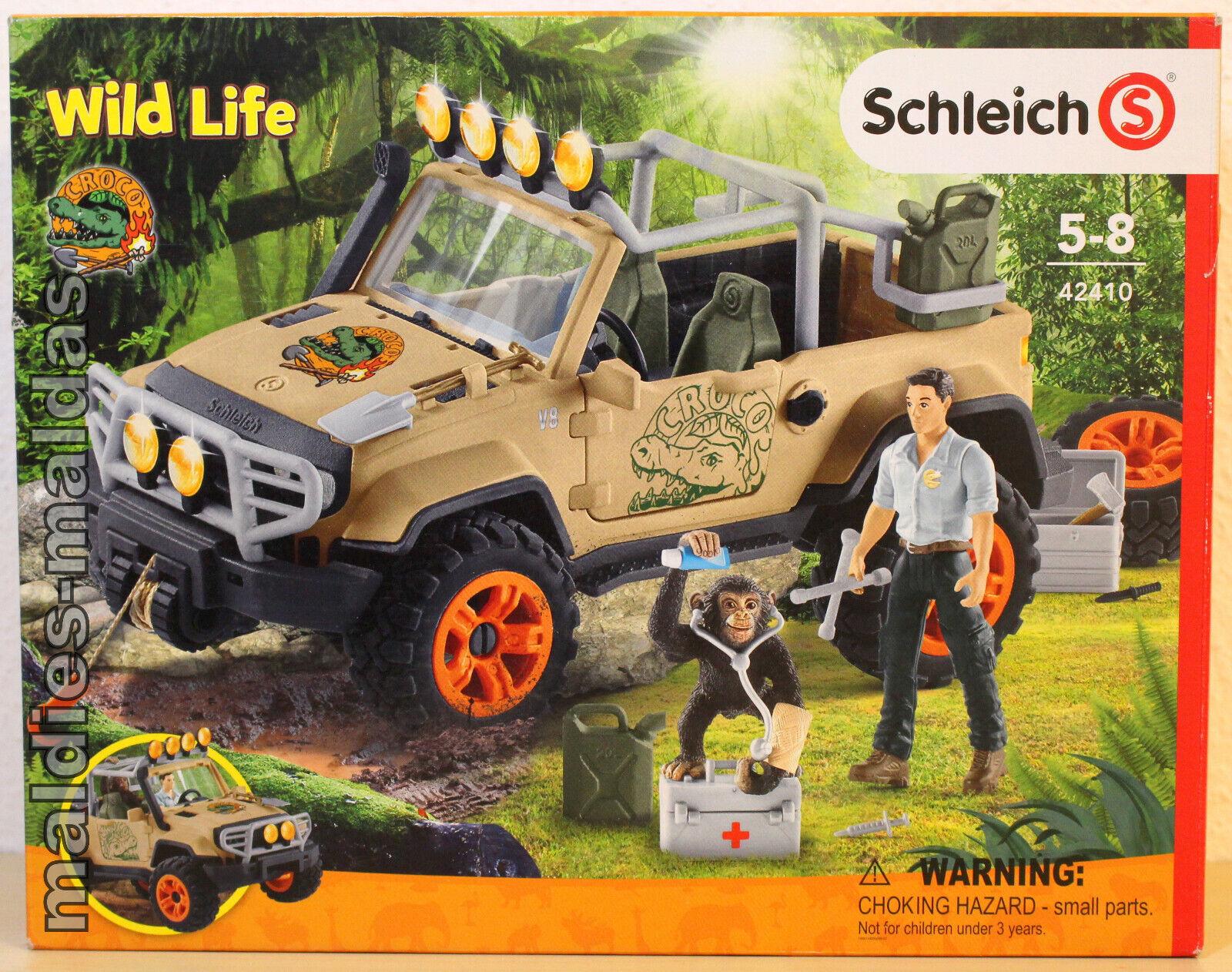 Schleich 42410 Wild Life Dschungel Gelädewagen mit Seilwinde NEU OVP