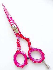 Hairdressing-Hair-Cutting-Scissors-Shears-Barber-Salon-Razor-Sharp-Spa-5-034-Pink