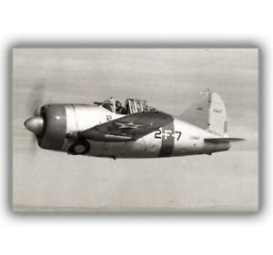 War-Photo-Brewster-F2A-Buffalo-US-Airplane-Glossy-Size-034-4-x-6-034-inch-K