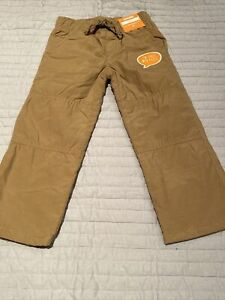 NEW Boys Size 2T Gymboree Gymster Pants Tan Beige Khaki Jersey Lined NWT