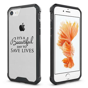 Details About For Iphone X 6 7 8 Plus Clear Shockproof Case It S A Beautiful Day To Save Lives