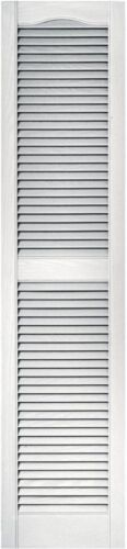 Set of 2 Exterior Louvered Vinyl Shutters 15x64 Outdoor Home Window White Pair