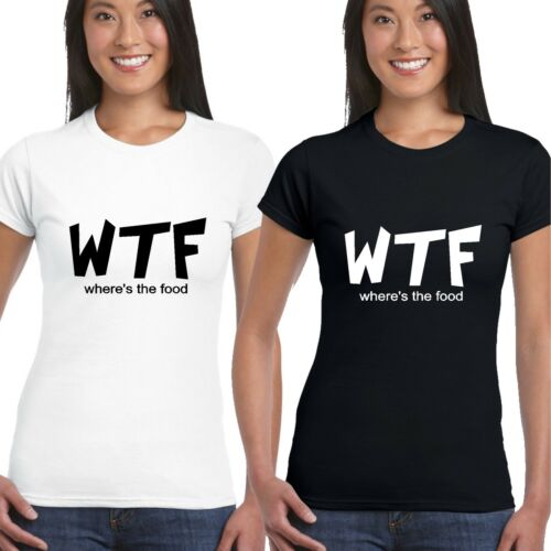 WTF WHERES THE FOOD T SHIRT GIRLS LADIES FUNNY HIPSTER CARA DELEVINGE SWAG TOP