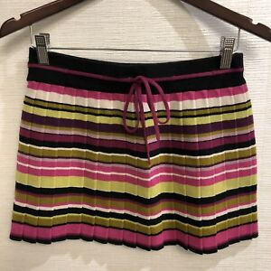 b061c99c66 Image is loading Missoni-Multi-Colored-Striped-Skirt-Size-S