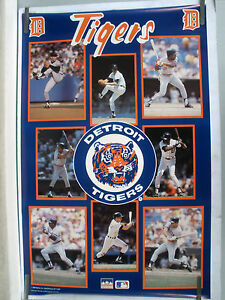 RARE DETROIT TIGERS TEAM STARS 1988 VINTAGE ORIGINAL MLB STARLINE POSTER