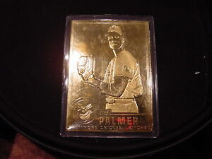 Details About Super Rare Jim Palmer Gold Foil Baseball Card Baltimore Orioles Mint