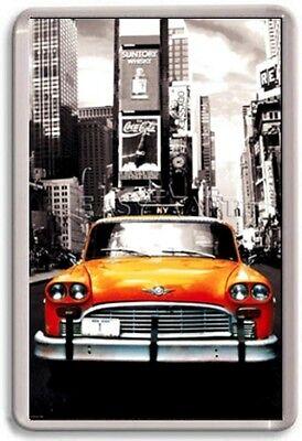 FRIDGE MAGNET - YELLOW CAB - Large Jumbo - USA New York
