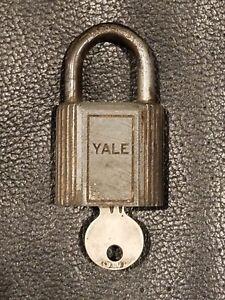 Vintage-Yale-Towne-Padlock-Lock-w-Original-Key