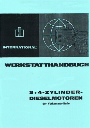 für IHC 323 Werkstatthandbuch 3 und 4 Zylinder der Vorkammer-Serie u a
