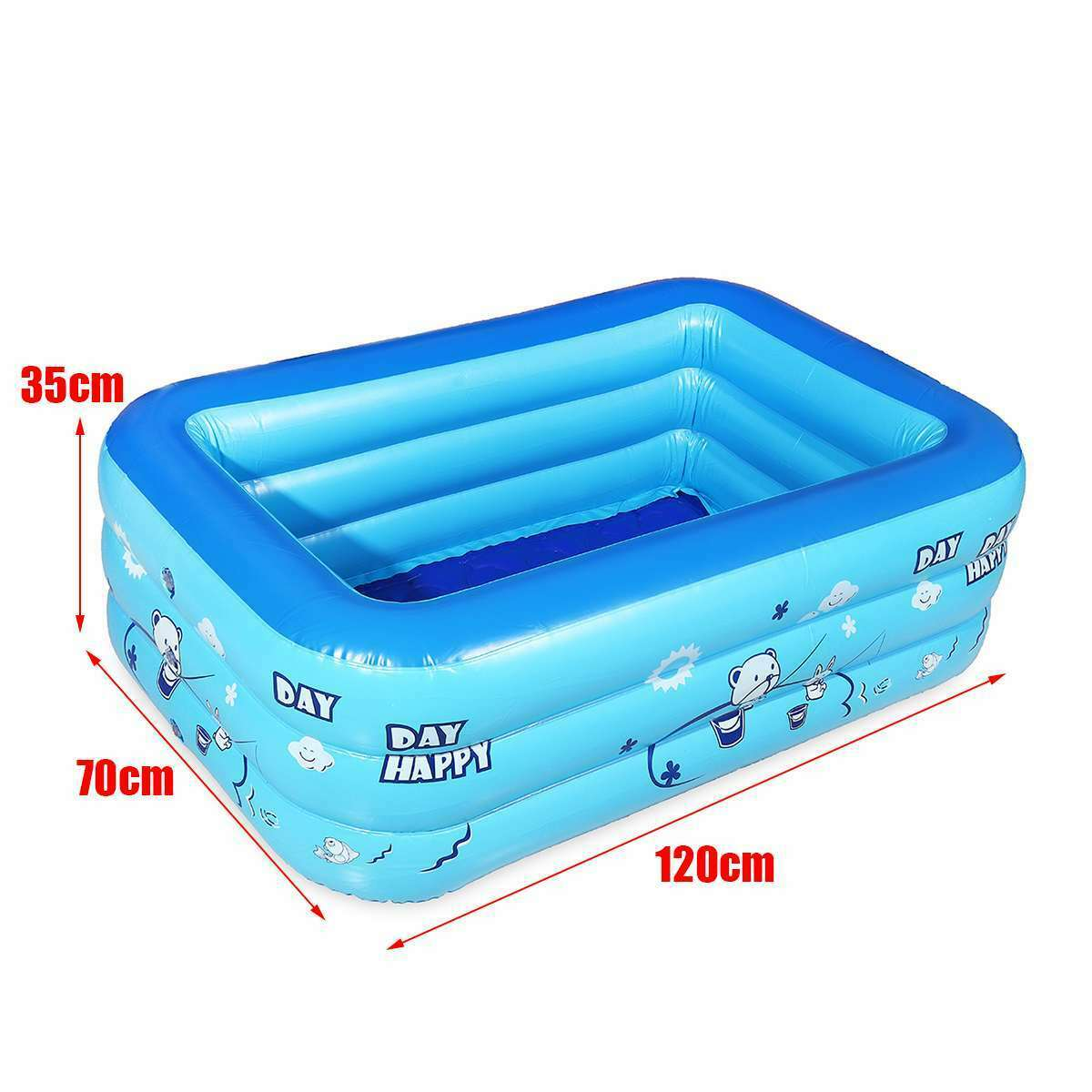 Children Inflatable Pool Bathing Tub Baby Kid Home Outdoor Large Swimming Pool