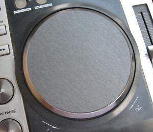2 X pour Pioneer CDJ-200 Jog molette Adhésif 3D brossé Graphite Gray decals