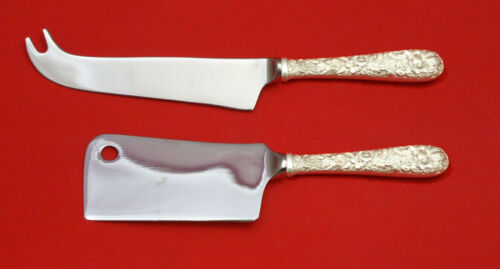 Repousse by Kirk Sterling Silver Cheese Server Serving Set 2pc HHWS  Custom Made