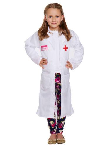 Niñas Vestido de Disfraz Uniforme de Hospital Doctor Enfermera Niños Niño Abrigo 3-12 años Nuevo
