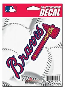 Atlanta Braves Medium DieCut Window Decal EBay - Die cut window decals