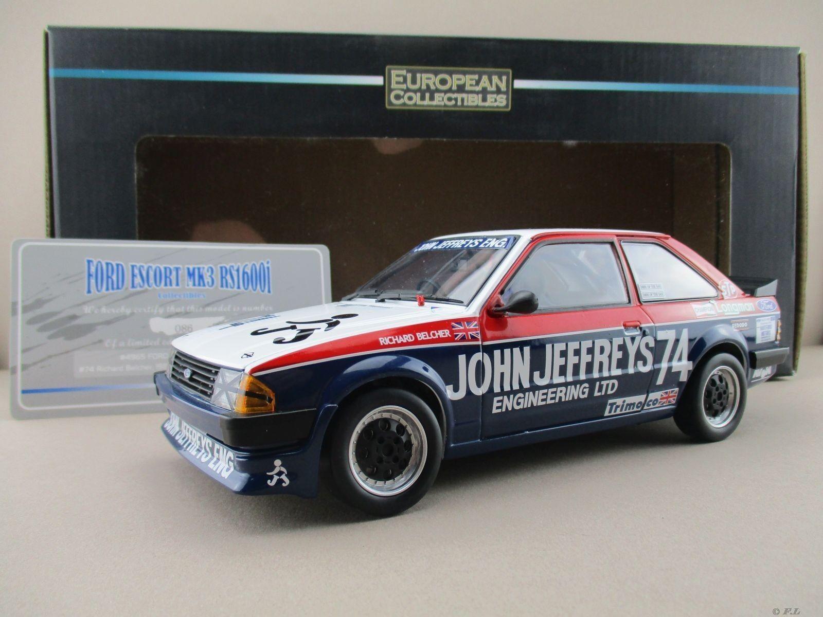 Ford escor escor escor mk3 rs1600i John Jeffreys 74 limitado Sun Star 1 18 OVP nuevo 0afc49