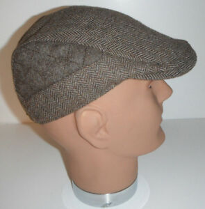 25fa9c9471fbe Image is loading STETSON-wool-blend-herringbone-DRIVING-golf-CABBIE-Cap-