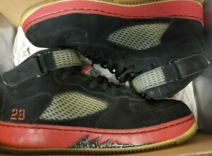 Air-Jordan-AJF-5-Authentic-Black-Varsity-Red-White-Pre-Owned-Size-12-2008-Fusion