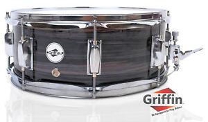 Griffin-Wood-Snare-Drum-Zebra-14x5-5-Poplar-Shell-14-034-Percussion-Kit-Set-Key
