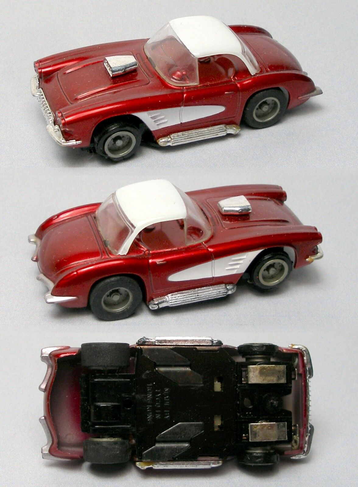 1977 Tyco'60 CHEVY CORVETTE tycopro slot car 1960 Candy Apple rouge 8906 Nuages