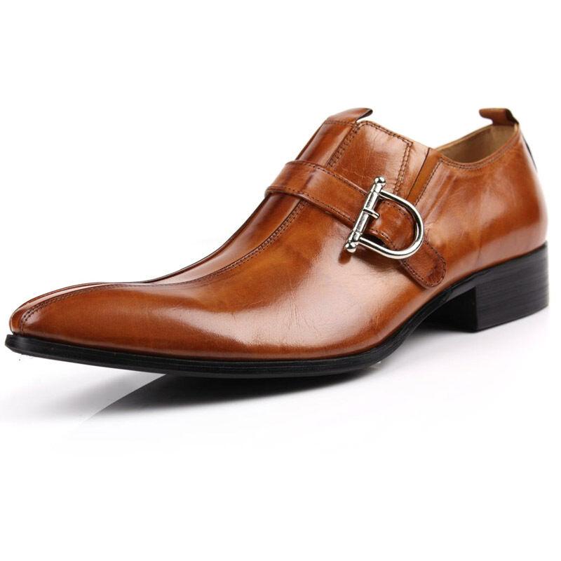 Herren Leder Schuhe Businessschuhe Bnzugschuhe Braun Schwarz 37-45