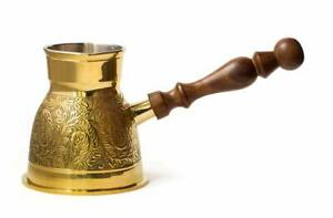 Metal Brass Turkish Kettle for Making Tea, Coffee