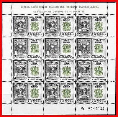 Stamps Andorra Constructive Andorra Spain 1982 First Postage Stamps Expo M/s Mnh Mi# 159-50,000 Issued At Any Cost
