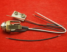 """Switchcraft Stereo Active Guitar & Bass 1/4"""" Input/Output Jack Wiring Harness"""