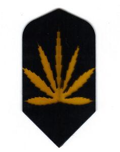 5 Black /& Gold Marijuana Leaf Standard Sets The Best Dart Flights AMERITHON