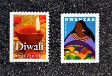 2016USA #5141-5142 Forever - Kwanzaa & Diwali - Set of 2 Singles Mint  christmas