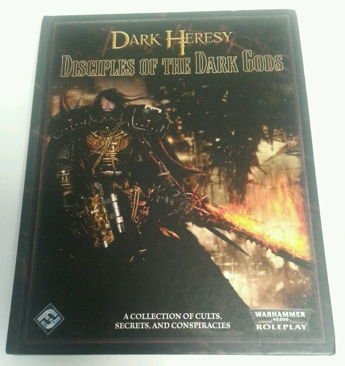 BOOK - Warhammer 40,000 Dark Heresy Disciples Of The Dark Gods Hardback 2008 RPG