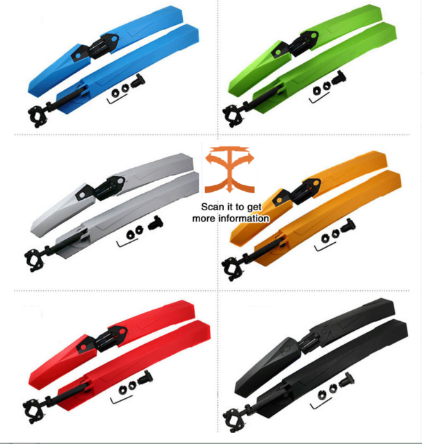 Bike Mudguard Set,Durable Mountain Bike Bicycle Front/&Rear Fenders Tyre Mudguard