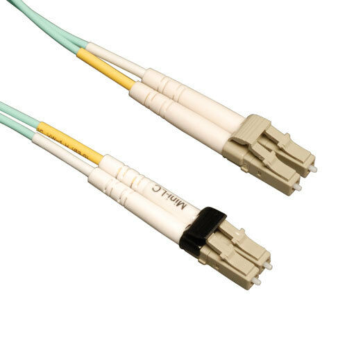 1M OM3 LC//LC Duplex Multimode 10gb Fiber Cable Aqua